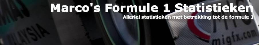 Marco's Formule 1 Statistieken