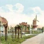 De Stationsstraat met Molen De Hoop (Historisch Genootschap Oud Soetermeer)