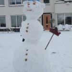 Sneeuwman op de Lofoten