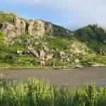 De achtertuin behorende bij het vissershuisje