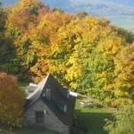 Uitzicht vanaf Kasteelruïne Ginsburg