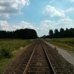 Uitzicht vanaf het spoor