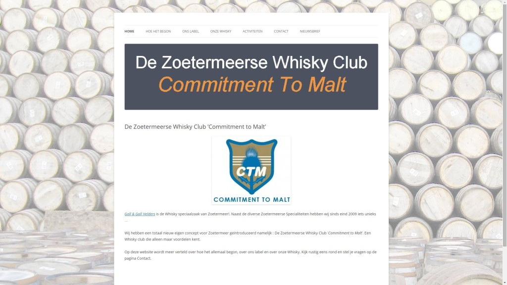 De Zoetermeerse Whisky Club 'Commitment To Malt'