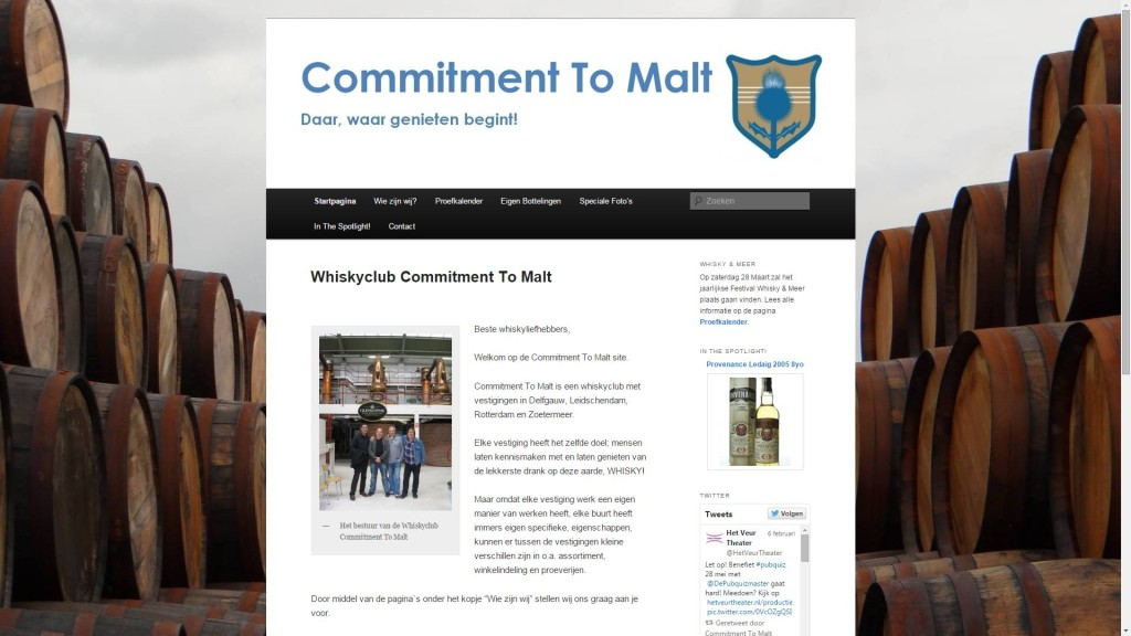 Whiskyclub Commitment To Malt - Daar, waar genieten begint!
