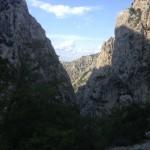 Uitzicht in de grote Paklenica