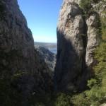 Uitzicht vanuit de kleine Paklenica