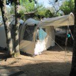 Zo mooi stond onze tent op Camping Toca Da Raposa.