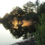Hoe mooi kan je het krijgen bij een meer? Zon en vogels en een heel fraai samenspel.