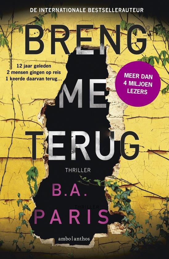 Boek : B.A. Paris - Breng me terug