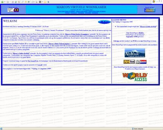 Marco's Virtuele Woonkamer (18-09-1999)