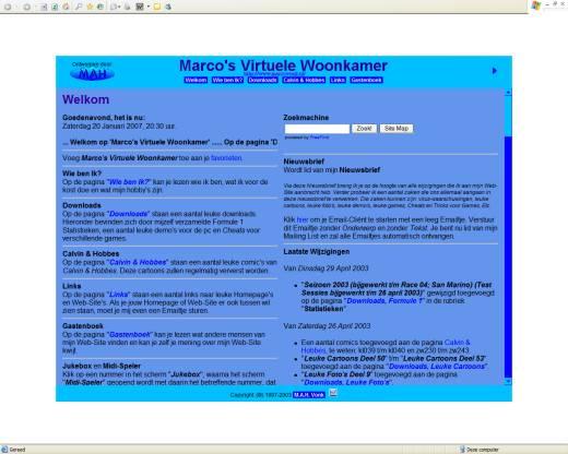 Marco's Virtuele Woonkamer (29-04-2003)