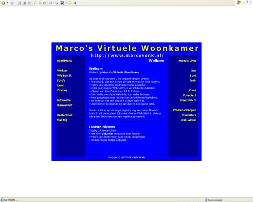 Marco's Virtuele Woonkamer (16-01-2004)