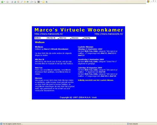 Marco's Virtuele Woonkamer (21-09-2004)