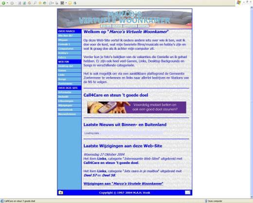 Marco's Virtuele Woonkamer (17-10-2004)
