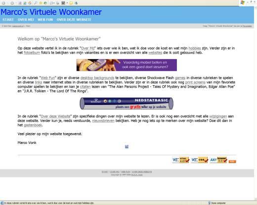 Marco's Virtuele Woonkamer (02-04-2005)