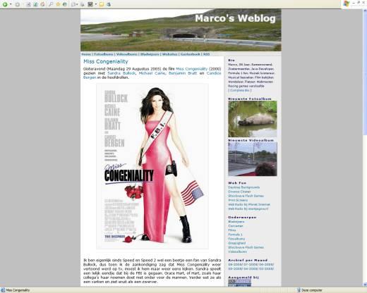 Marco's Weblog (31-08-2005)