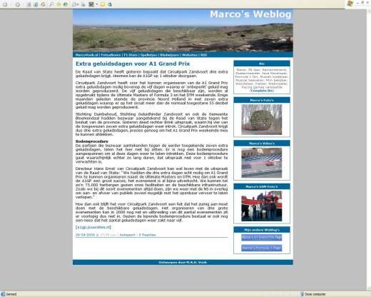 Marco's Weblog (27-04-2006)