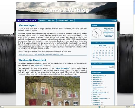 Marco's Weblog (16-03-2008)
