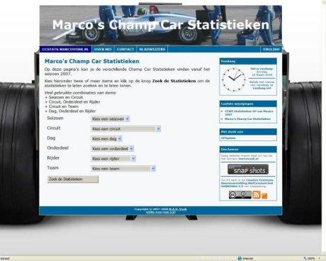 Marco's Champ Car Statistieken