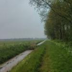 Vanuit het bos zijn wij nog een heel stuk gaan lopen over zo een soort graspad.