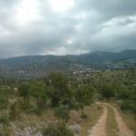 Mooi weggetje in de buurt van Starigrad Paklenica