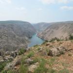 Parizevacka glavica, een mooi uitzicht op de river Zrmanja