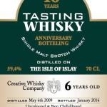 Creative Whisky Company Tasting Whisky Anniversary Botteling