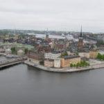 Dit is het uitzicht vanaf de Toren van het Stadhuis richting de oude stad.