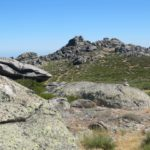 Tijdens de wandeling kwamen we deze hele fraaie granieten rotsen tegen.