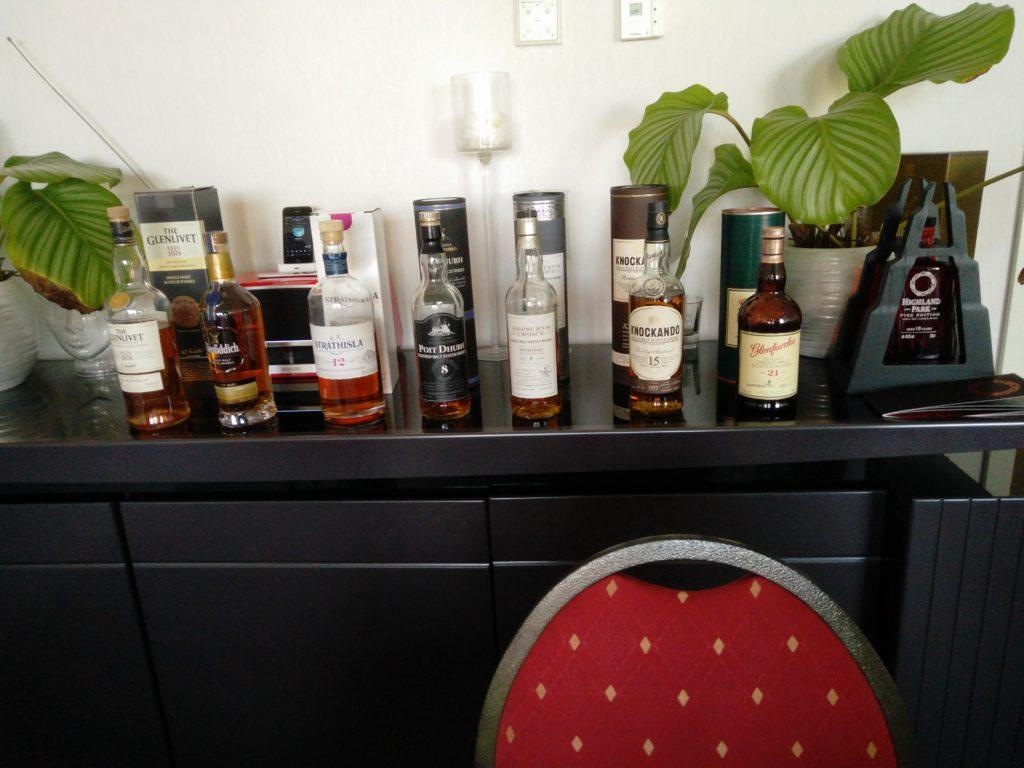 Line-up van Whisky's