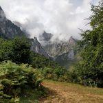 Tijdens het wandelen zagen wij dit fraaie plaatje van de bergen.
