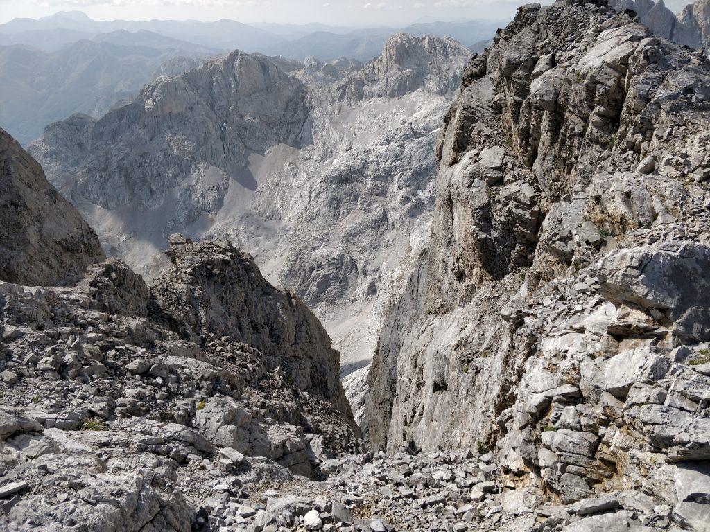 Uitzicht vanaf bijna het hoogste gedeelte van de wandeling.