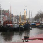 De haven in Groningen