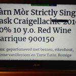 Càrn Mòr Strictly Single Cask Craigellachie 2010 Wine Cask Matured