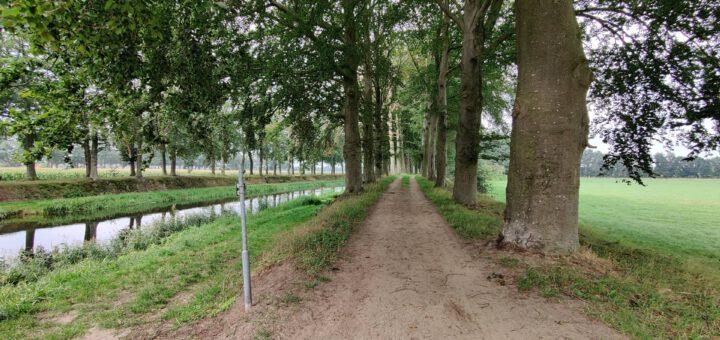 Dit was toch wel een mooi pad langs een mooi kanaal